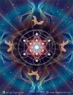 """"""" El Cubo de Metatron contiene cada forma que existe dentro del Universo. Aquellas formas son los componentes básicos de toda la Materia Física, que se conocen como Sólidos Platónicos. Las formas representan el Modelo que constituye todo lo que Dios ha hecho."""