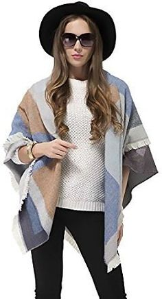 Womens Winter Scarf Shawl Cape Blanket Oversized Shawl Wrap Poncho  Reversible At Amazon Women's Clothing Store