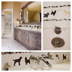 Custom bathroom #tile designs – even for fellow #dog lovers!  #interiordesign #homedecor #design Paula Berg Design Associates