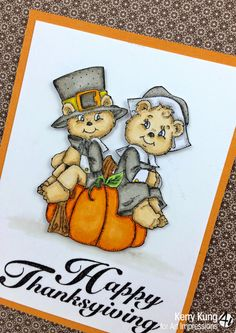 Art Impressions Rubber Stamps: Happy Thanksgiving from Kerry