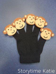 Flannel Friday: Finger Puppet Glove   storytime katie