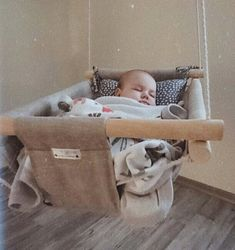 Baby swing, hanging cradle, kids hammock, linen and wooden decor and toys Kids Hammock, Baby Hammock, Hanging Cradle, Baby Swings And Bouncers, Baby Gadgets, Baby Sewing Projects, Baby Room Design, Baby Essentials, Happy Kids