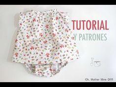 DIY Costura: Blusa para bebés (Tutorial y patrones gratis) - YouTube
