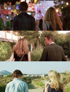 Ethan Hawke & Julie Delpy - Before Sunrise, Before Sunset, Before Midnight. A spectacular trilogy and a fine romance story. Before Sunrise Trilogy, Before Sunrise Movie, Before Trilogy, Before Sunset, Before Midnight, Julie Delpy, Movies And Series, Movies And Tv Shows, Film Movie