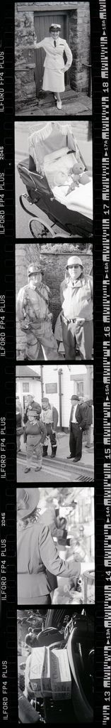 Film strip demonstrates the frequency of shot's available to be taken at Pickering 1940'S Weekend.