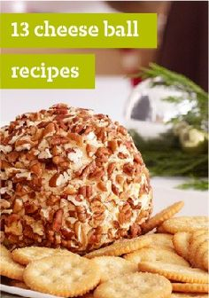 13 Cheese Ball Party Recipes – Round, fun and tasty, cheese balls were born to party! They're also one of the easiest cold appetizers to prepare. Uncle Doug usually made a large cheese ball with crackers. Cold Appetizers, Finger Food Appetizers, Appetizers For Party, Finger Foods, Appetizer Recipes, Party Recipes, Snack Recipes, Cooking Recipes, Snacks