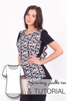 Hight Low T-Shirt Top Sewing Pattern and Sewing Tutorial