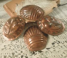 Vintage Swedish Copper Molds / Four Copper by AloofNewfWhimsy, $34.00