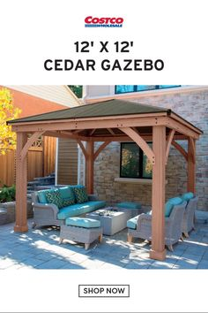 The pergola kits are the easiest and quickest way to build a garden pergola. There are lots of do it yourself pergola kits available to you so that anyone could easily put them together to construct a new structure at their backyard. Backyard Gazebo, Backyard Seating, Outdoor Pergola, Wooden Pergola, Pergola Plans, Diy Pergola, Pergola Kits, Cheap Pergola, Pergola Roof