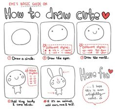 Kawaii Character, how to draw it.