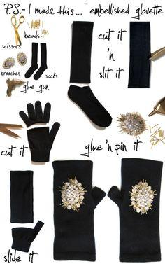 23 Ways To Glam Up Your Little Black Dress Wear fancy gloves. Diy Fashion, Ideias Fashion, Fashion Poses, Vogue Fashion, Fashion Black, Fashion Editorials, Dress Fashion, Fashion Ideas, Diy Accessoires