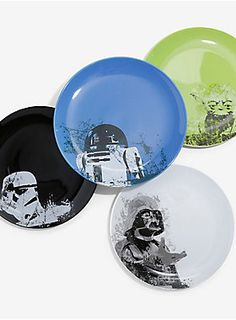 "May The Force be with you at every meal | Star Wars Ceramic 10"" Plate Set"