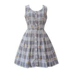 Pale lilac and grey plaid vintage 50s dress Love Miss Daisy ($89) ❤ liked on Polyvore