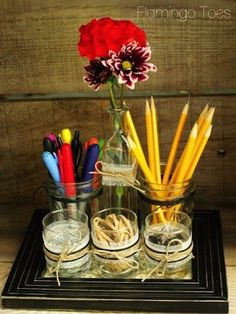 Get it Together: 18 DIY Desk Organizers | diycandy.com