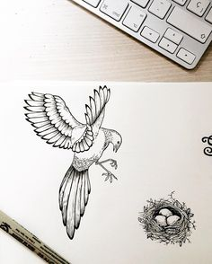 Family  #illustration #handdrawn #artoftheday #icons #bird #oldblackbamboo