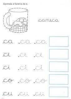 Atividades da tia: Caligrafia Cursive Handwriting, Handwriting Worksheets, Cursive Writing Practice Sheets, Kids English, Spanish Lessons, School Days, Activities For Kids, Homeschool, Teaching