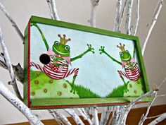 #decoupage #box #frogs by Eco Manufaktura