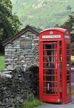 Grasmere, Lake District, England...definitely have a picture standing in this phone booth...
