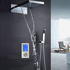 Shower Equipment Best Quality Bathroom Shower Faucet Panel Black Tower Shower Column With 3pcs Massage System To Win A High Admiration Bathroom Fixtures