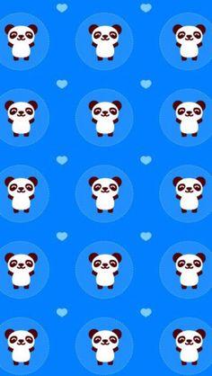 Bear Wallpaper, Cartoon Wallpaper, Pattern Wallpaper, Panda Bears, Panda Panda, Cartoon Panda, Wallpapers, Cute, Anime