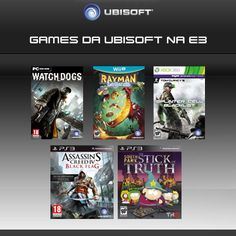 A Ubisoft já anunciou alguns games que vai levar pra E3 \O/ \O/ Qual deles é o mais esperado? #Games #Ubisoft