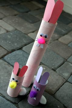 Toilet paper roll Easter Bunny craft