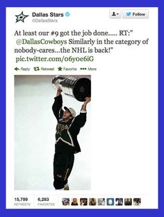 When the Dallas Stars delivered this sick burn.   14 Times Brands Showed Their Sassy Side On Twitter