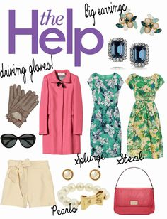 The Help- I love this era! Fashion Me Now, Disney Fashion, Southern Belle Dress, 1960s Dresses, Bright Dress, College Fashion, Playing Dress Up, Urban Fashion, Spring Summer Fashion