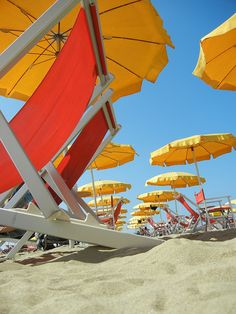Beach sand & umbrellas...