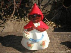 BLACK AMERICANA LITTLE RED RIDING HOOD COOKIE JAR