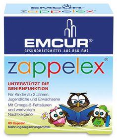 Emcur Ž Zappelex 60 Kapseln unterstützt die Gehirnfunktion