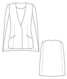 An elegant and versatile, this cape blazer will be a hit in your wardrobe. Sewing pattern by Iconic Patterns AUD 20.00