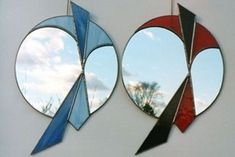 stained glass mirrors | Free Stained Glass Pattern 2043-Hand Mirror