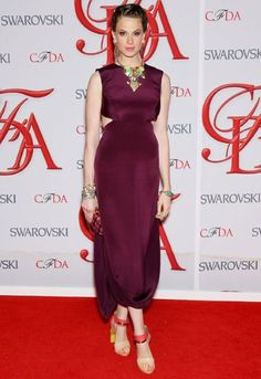 Statement necklace? Check. Statement shoes? Check. Elettra Wiedemann ticks all our fashion boxes #CFDAAwards