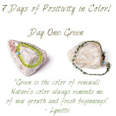 7 Days of Positivity in Color - Green