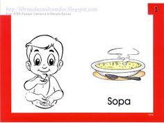 LIBRAS: Educandos Surdos: Sinais dos Alimentos Sign Language Book, Disney Characters, Fictional Characters, Snoopy, Comics, Books, Lds, Signwriting, Sign Language