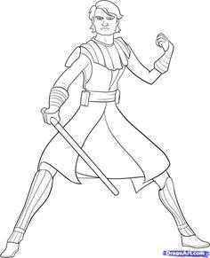 Anakin Skywalker Ausmalbilder 01