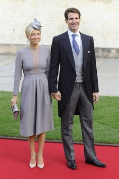 Marie-Chantal Claire, Crown Princess of Greece, Princess of Denmark, Pavlos, Crown Prince of Greece at the WEDDİNG CEREMONY OF PRİNCE GUİLLAUME AND COUNTESS STEPHANİE 19 Oct 12.
