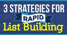 3 Strategies for Rapid List Building {Great tips here!}