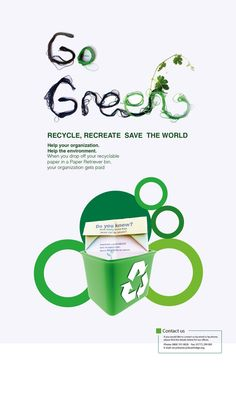 GoGreen Recycle by Lohar Chan, via Behance Company Brochure, Senior Project, Paper Organization, Project Ideas, Projects, Poster Ideas, Go Green, Art Quotes, Sustainability