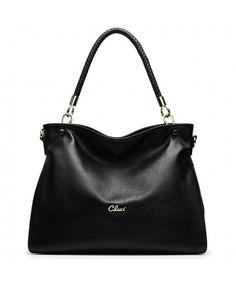 dca3cd464abb Women Handbags Genuine Leather Top-handle Tote Purse Satchel Designer  Shoulder Bags - 4-black - CM12HKE8I1X