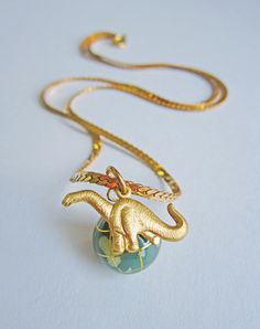 Travelling My Way Back To You - Limited Edition Dinosaur Necklaces — Eclectic Eccentricity Vintage Jewellery