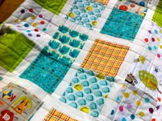 Unique Handmade Patchwork Baby Quilt Riley by DragonflyBabyQuilts, $133.00