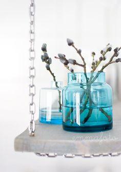 interiør blått Blue Mussel, Glass Vase, Home And Garden, Mugs, Mussels, Color, Inspiration, Home Decor, Egg