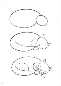 Chat 💙 Dessin animaux chat- Dessins de chats – Illustrations et affiches chat… Cat 💙 Drawing animals cat- Drawings of cats – Illustrations and posters cat … – Zeichnen – Drawing Lessons, Drawing Techniques, Art Lessons, Drawing Tips, Simple Cat Drawing, Learn Drawing, Life Drawing, Drawing Ideas, Animal Drawings