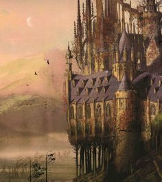 Hogwarts Castle, from Jim Kay's illustrated edition of Harry Potter and the…