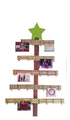Christmas card holder advent calendar card holder merry