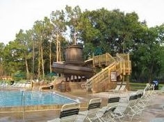 Swimming pool and water slide - Fort Wilderness Campground