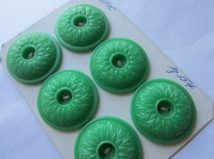 Vintage Buttons  Cottage chic green on card 6 by pillowtalkswf, $6.95