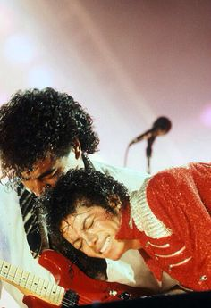 Michael Jackson during the Victory Tour.